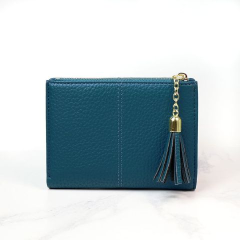 TEAL COMPACT PURSE